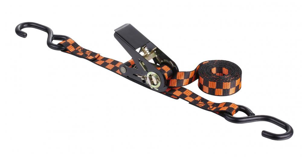 1 Ton Ratchet Tie Down Strap with Black Spray-paint S Hook