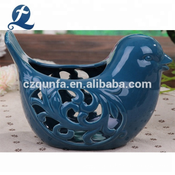 Home Garden Birdcage Shape Decorative Ceramic Flower Planting Pots