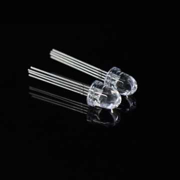 8mm RGB LED Bullet Top Clear Lens 10-degree