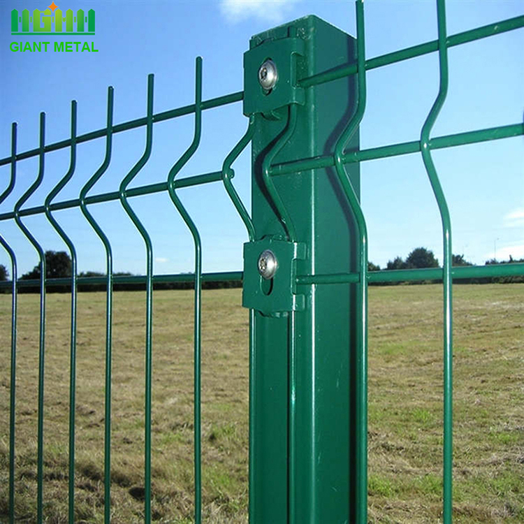 3D curvy metal welded wire mesh panel fence