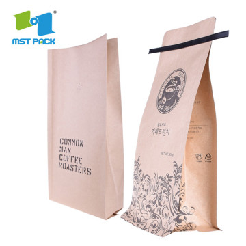 Kraft Coffee Bag With Tin Tie