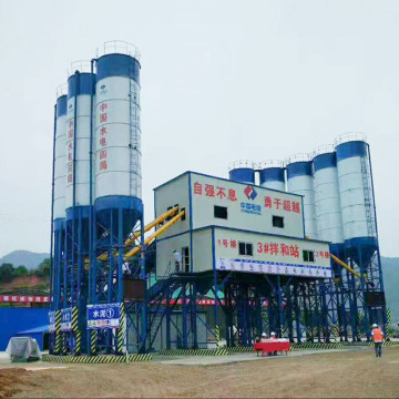 Portable electric HZS120 concrete batching plant