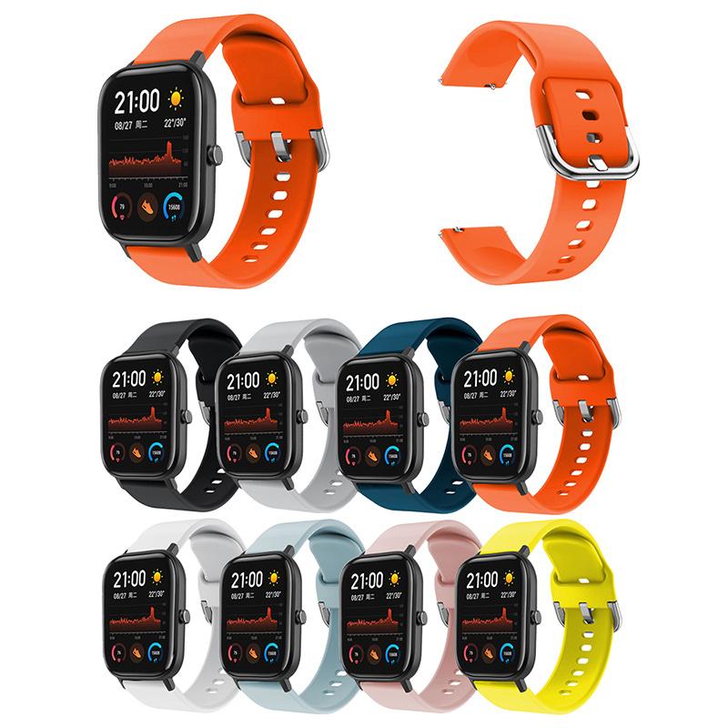 For Huami Amazfit Bip Sports Bracelet Strap Smart Accessorie Silicone Strap Bracelet for Huami Amazfit Bip Strap Watch Band 20mm