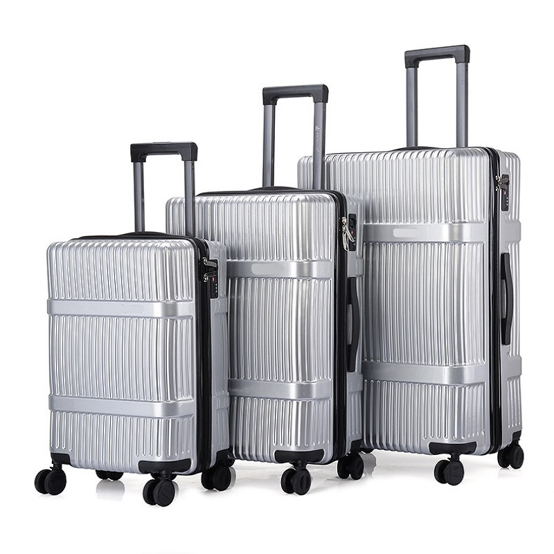 Silvery Luggage Set