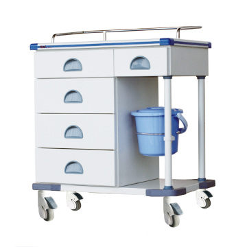 Hospital Steel Artificial Marble Aluminum Treatment Trolley