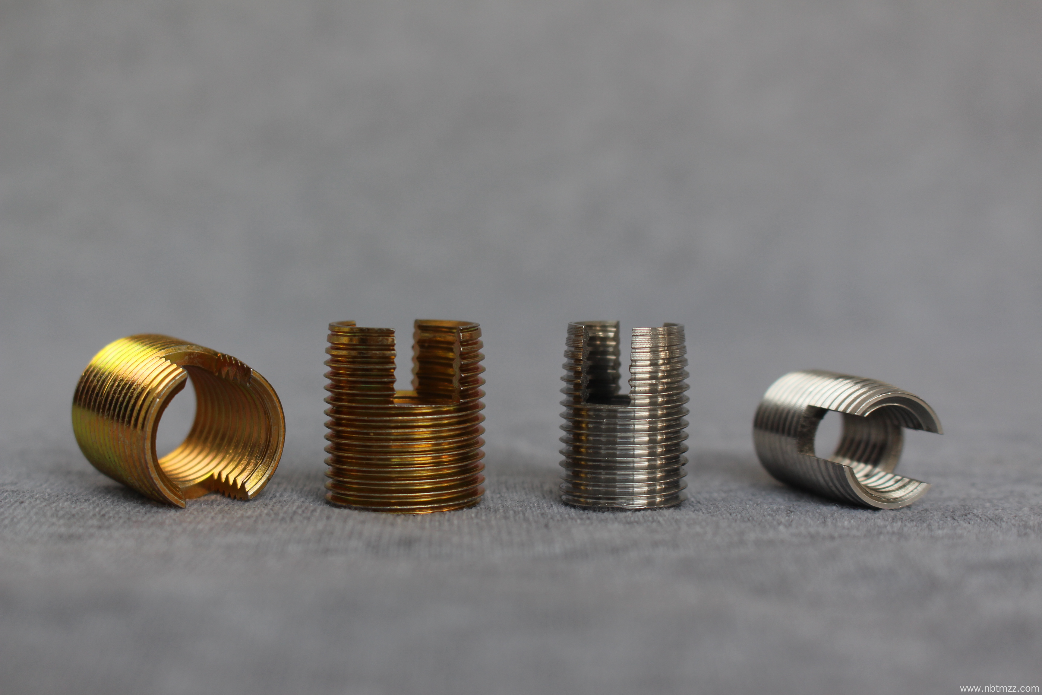 Color zinc plated steel Self-tapping threaded inserts