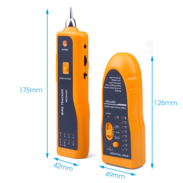 kebidumei New For RJ11 RJ45 Cat5 Cat6 Telephone Wire Tracker Tracer Toner Ethernet LAN Network Cable Tester Detector Line Finder