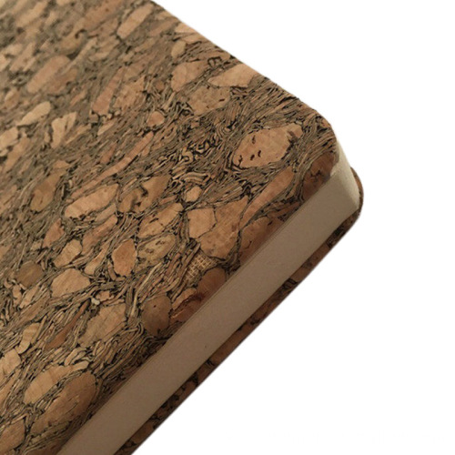 Cork Leather with natural cork veneer PU backing