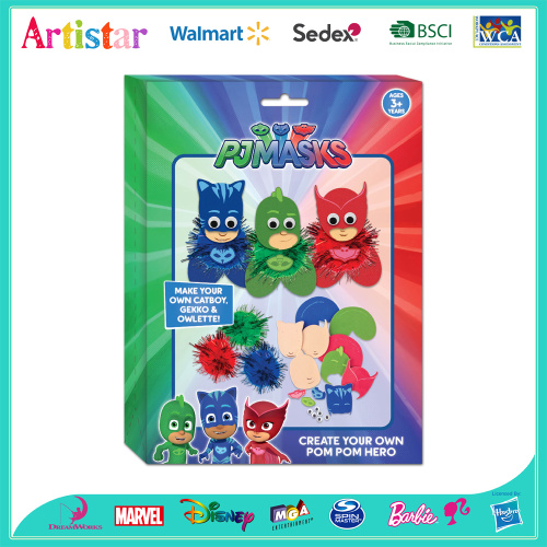 PJ MASKS create your own pompom hero