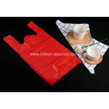 HDPE Shopping Carrier Bag in Red