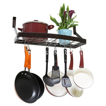 Hot Selling Kitchen Wall Pot Rack with Hooks