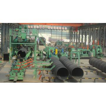 spiral welded steel pipe production line