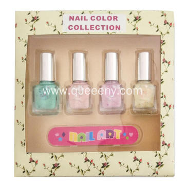 4 bottles of Nail Polish+Finger cutter