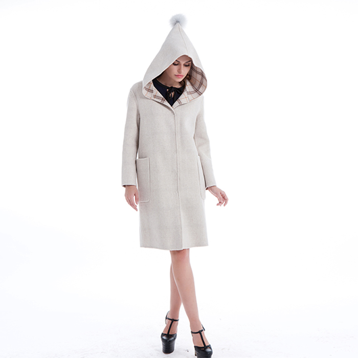 New Styles White cashmere winter coat