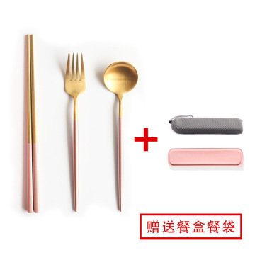 Custom 304 Stainless Steel Spoon Chopsticks Set