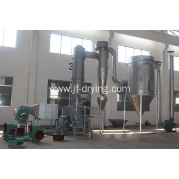 Rotary spin flash dryer machine