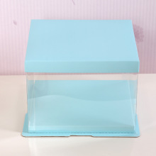 Birthday cake box clear plastic cake box