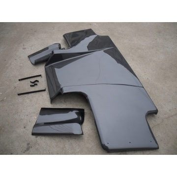 Rear Diffuser floor carbon fibre Vacuum automobile refitting