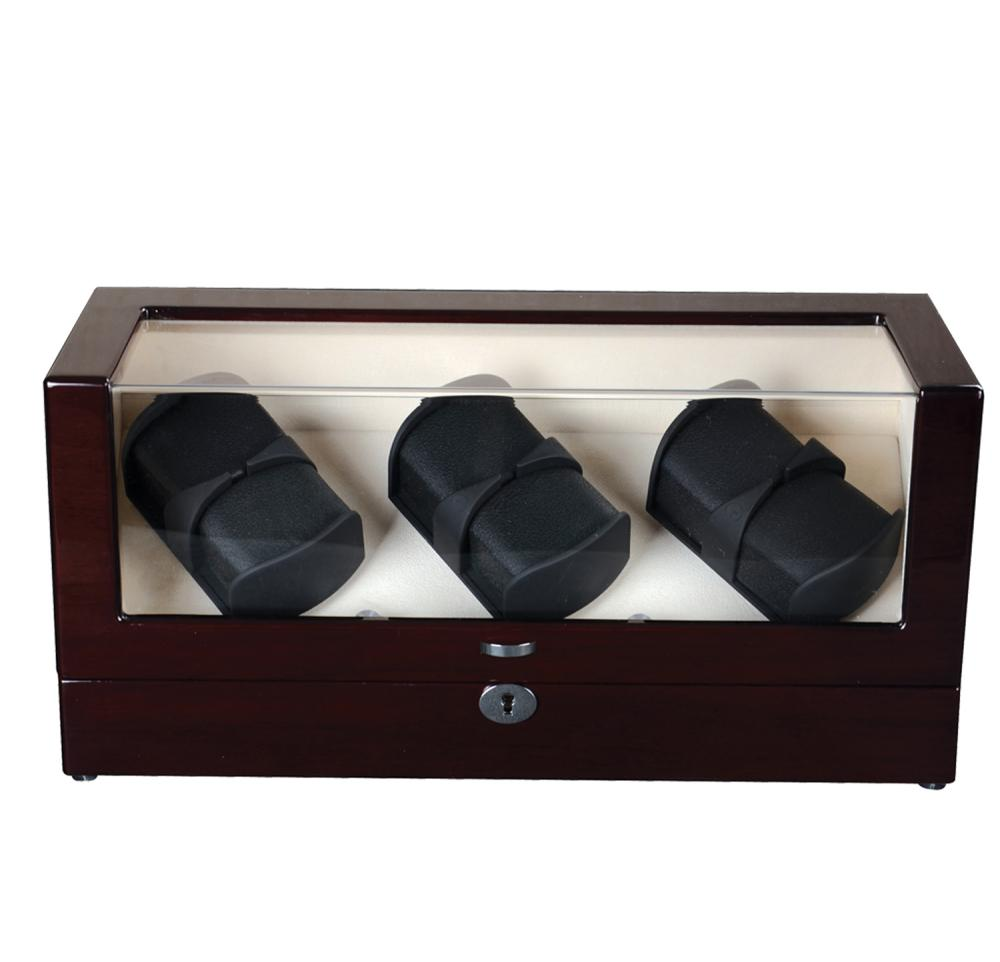 Wood Watch Box 3 Rotors