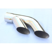 Dual outlets Slant Cut Exhaust Tip