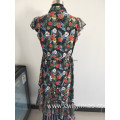 spring  woven  chiffon dress can customize
