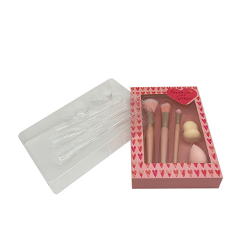Cosmetic clear plastic blister packaging tray