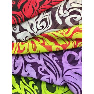 dyed printing soft design pattern chiffon custom fabric