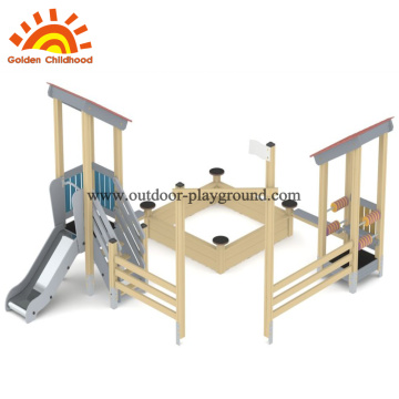 Hpl playground equipment for children with slide