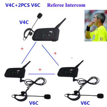 3pcs Professional Football Referees Intercom System Bluetooth Soccer Arbitro Communication Headset Interphone FM