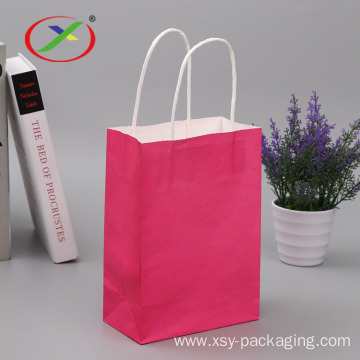 Factory price wholesale printed brown kraft paper bag