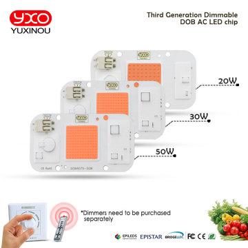 10PCS Smart IC LED DOB Chip AC 220V 110V 20W 30W 50W LED Lamp Light Cover Lens Reflects DIY For LED Grow Light LED Floodlight