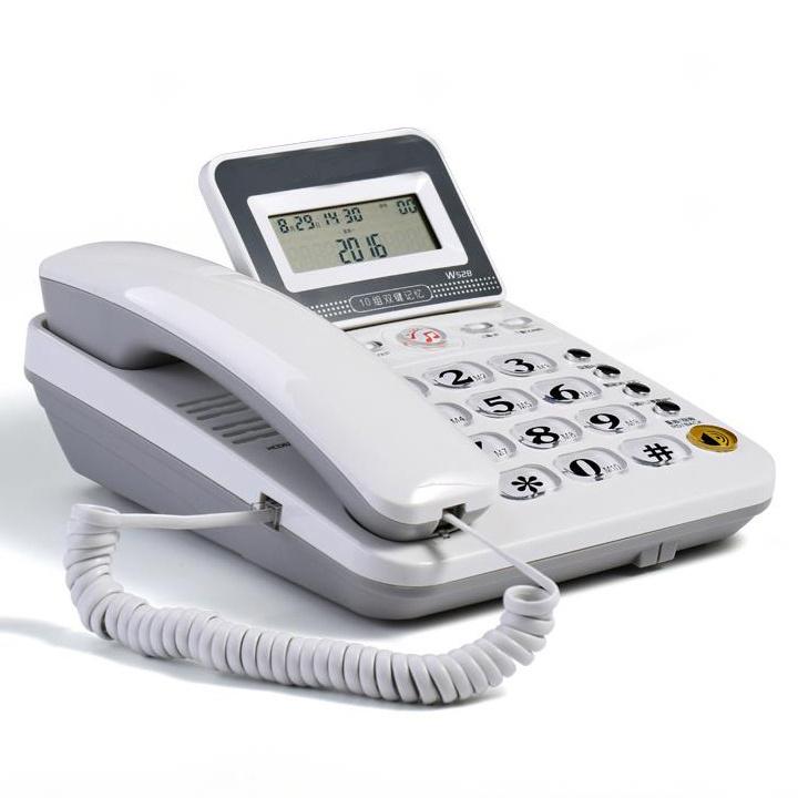 Desk telefone Corded Telephone Phone Landline LCD Display Caller ID Volume Adjustable Calculator Alarm Clock for Home office