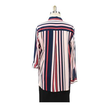 Women Casual 100% Rayon Long Sleeve Blouses