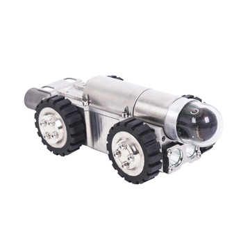 Robotic Crawler Camera Inspects Long Industrial Pipelines