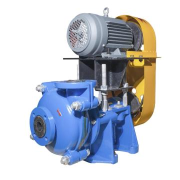 2'' Rubber Slurry Pumps with motor over base