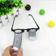 1Pcs Pop Out Eye Drop Eyeball Prank Glasses Horror Scary Party Gags Practical Jokes Funny Toy Black and Gray