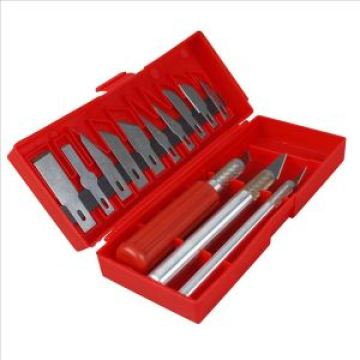 16PC Burin Set with Plastic Handle