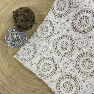 Solid Jacquard/ Guipure Chemical Lace Embroidery Fabric