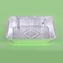 Deep Rectangular Silver Aluminum Foil Box