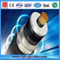 66KV 1*240sqmm Copper XLPE Corrugated Aluminum Sheath Cable