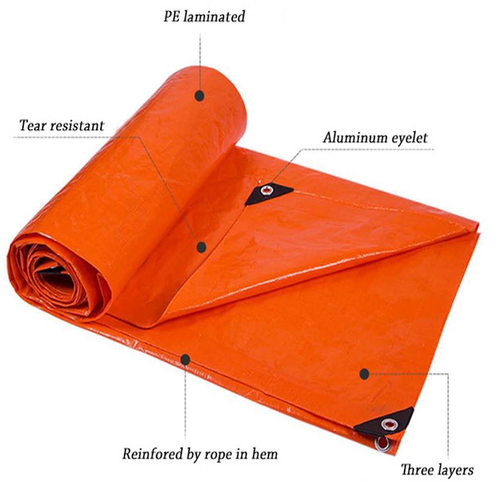 double-waterproof-orange-cheap-pe-tarp-awning