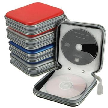 New Portable CD Case 40pcs Disc DVD CD Bag Wallet Storage Organizer Case Boxes Holder Sleeve Hard CD Bag Album Box with Zipper