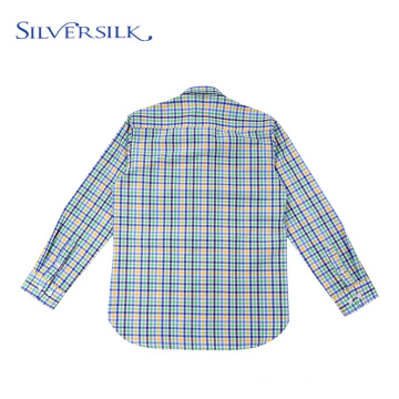 Italian Preppy Full Sleeve Spring Kids Checked Shirts