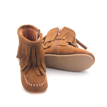 Handmade Warm Genuine Leather Winter Baby Boots