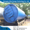 Pyrolysis plant of plastic with cooling system