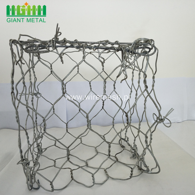 Low Carbon Woven Gabion Box for Fenced