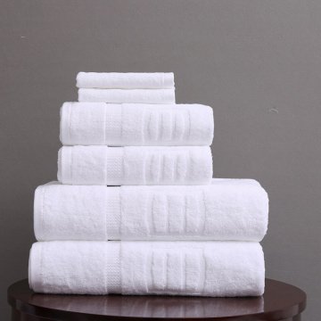400-800GSM towel sets  white for hotel