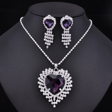 Fashion crystal necklace set