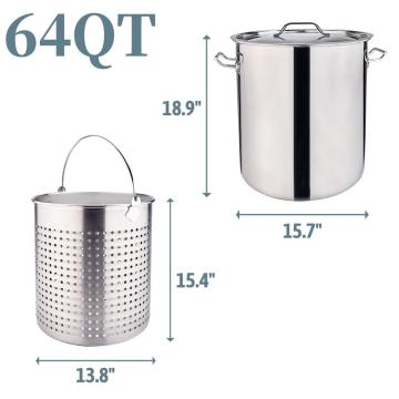64QT Stainless Steel Stock Pot