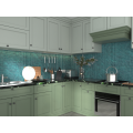 Green Glass Mosaic Walls For Dining And Kitchen